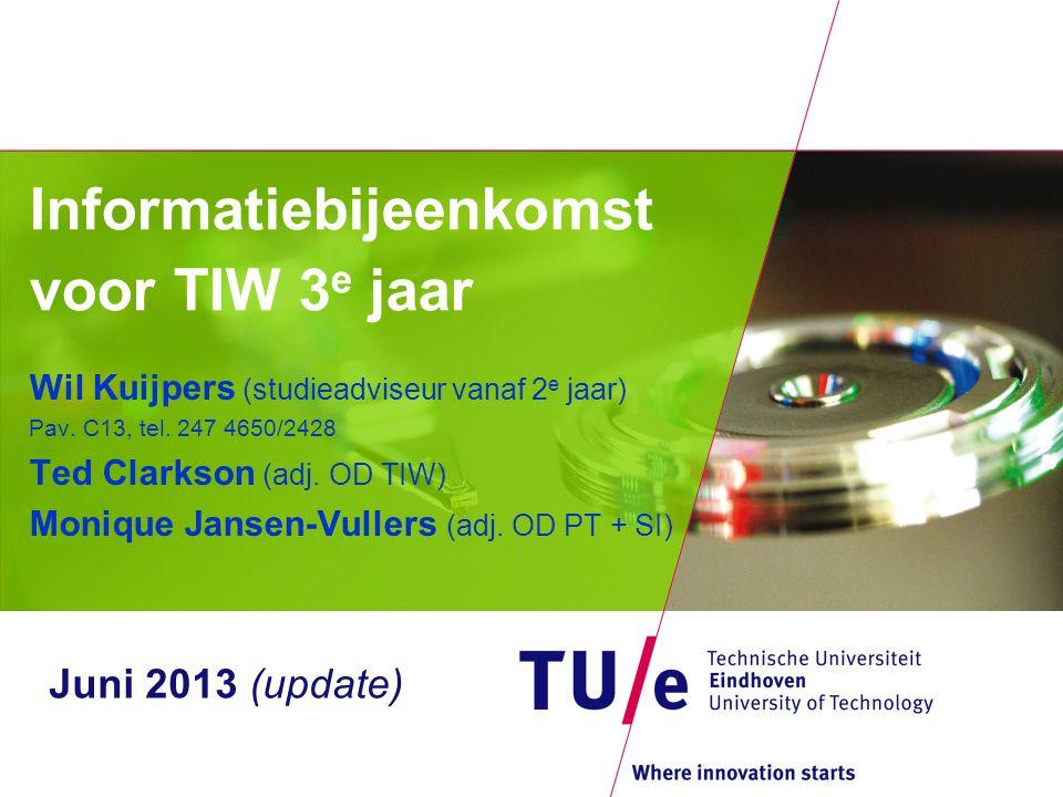 Informatiebijeenkomst voor TIW 3e jaar