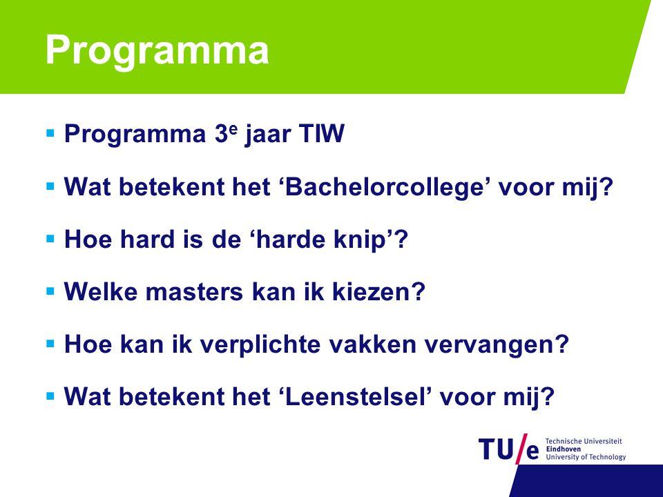 Programma Programma 3e jaar TIW