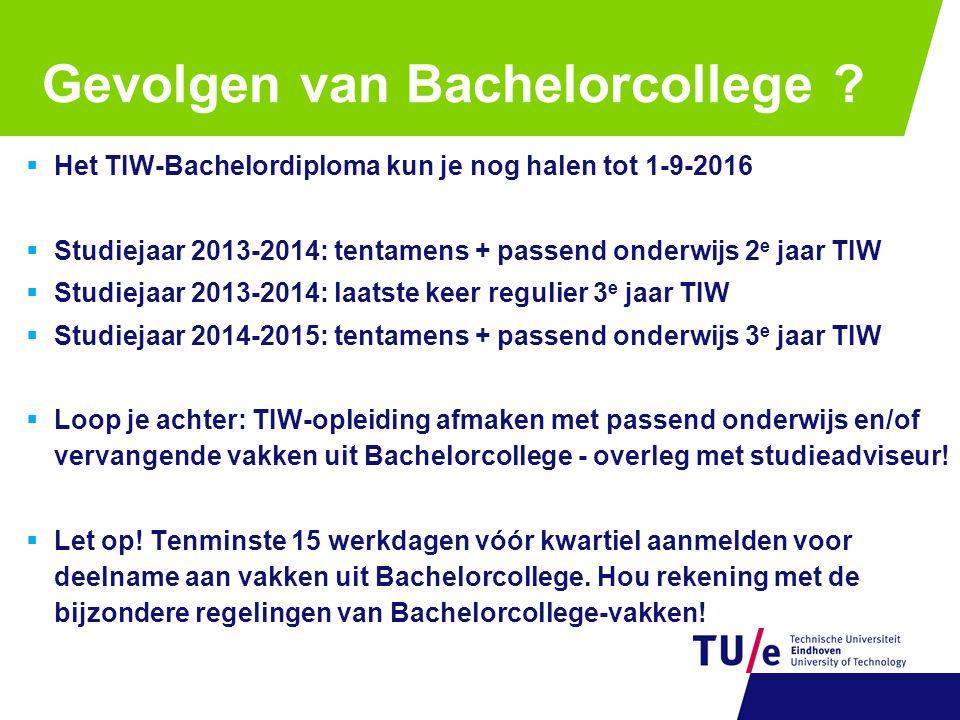 Gevolgen van Bachelorcollege