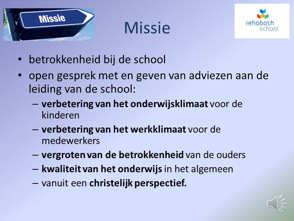 Missie betrokkenheid bij de school