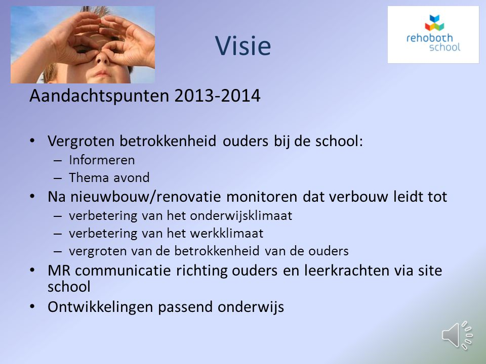 Visie Aandachtspunten 2013-2014