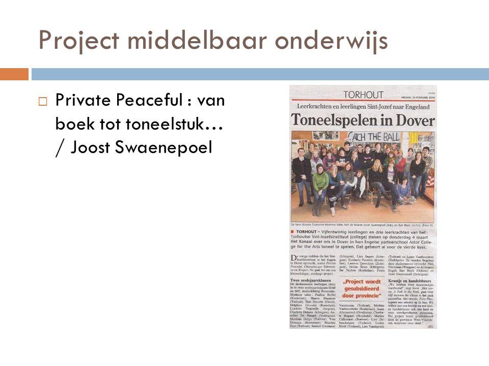 Project middelbaar onderwijs