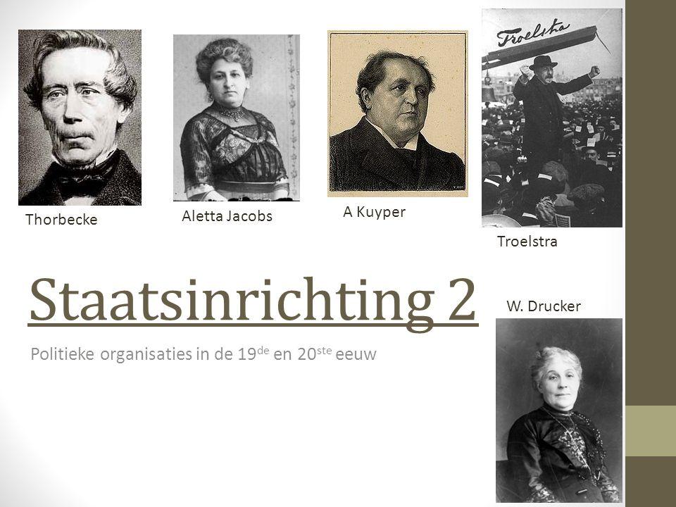 Politieke organisaties in de 19de en 20ste eeuw