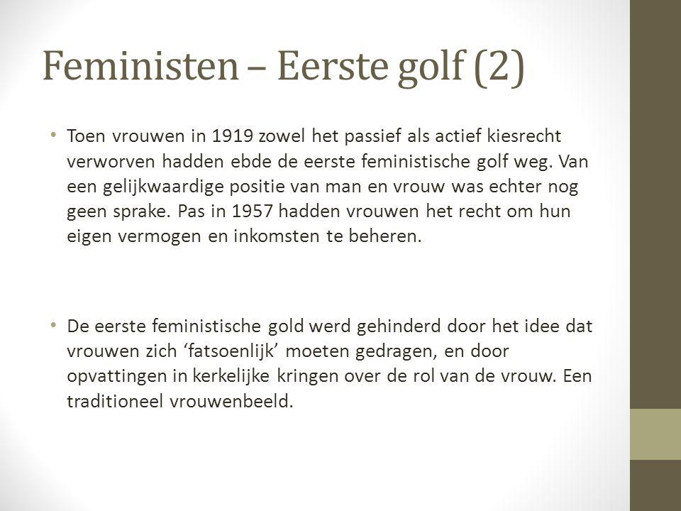 Feministen – Eerste golf (2)