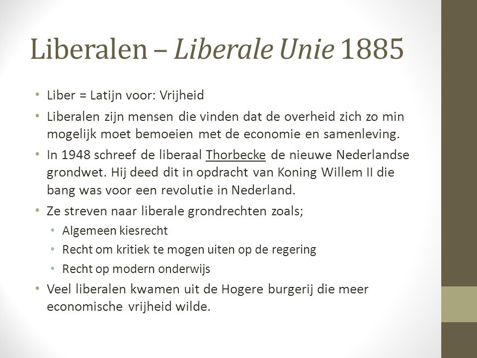 Liberalen – Liberale Unie 1885