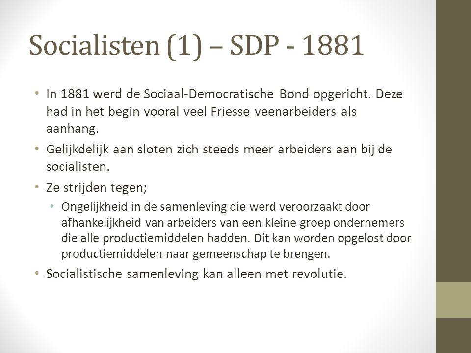 Socialisten (1) – SDP - 1881
