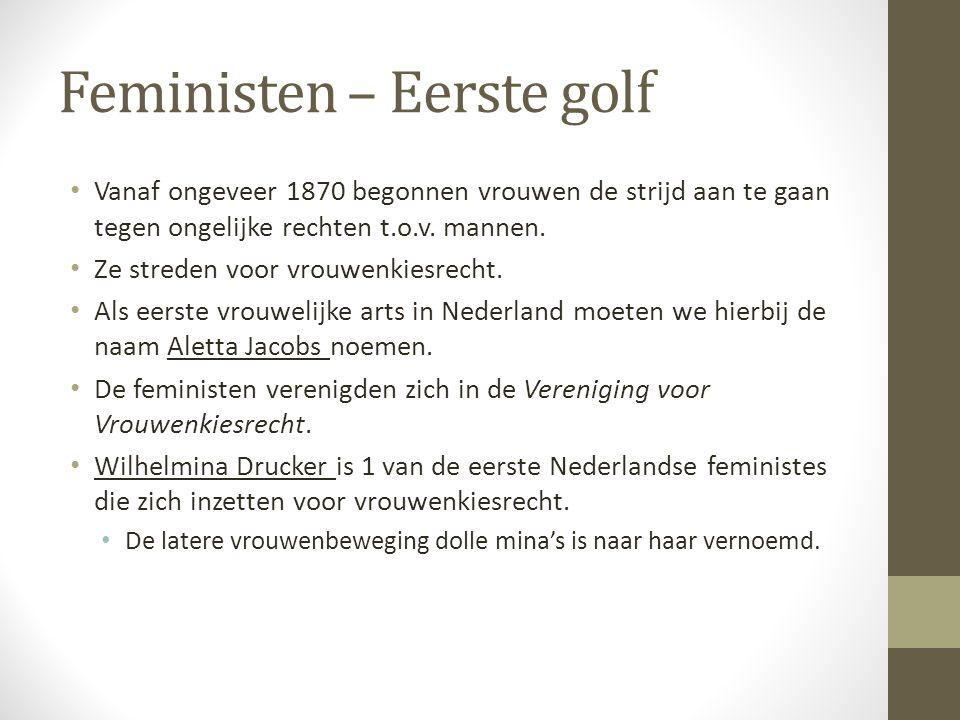 Feministen – Eerste golf