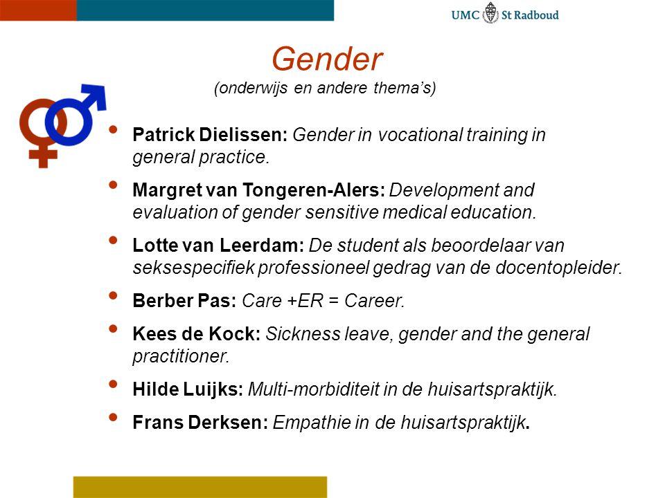 Gender (onderwijs en andere thema's)