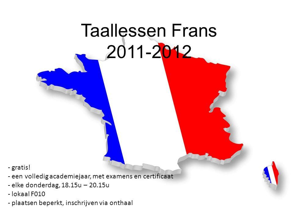 Taallessen Frans 2011-2012 gratis!