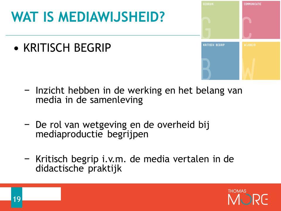 Wat is mediawijsheid KRITISCH BEGRIP