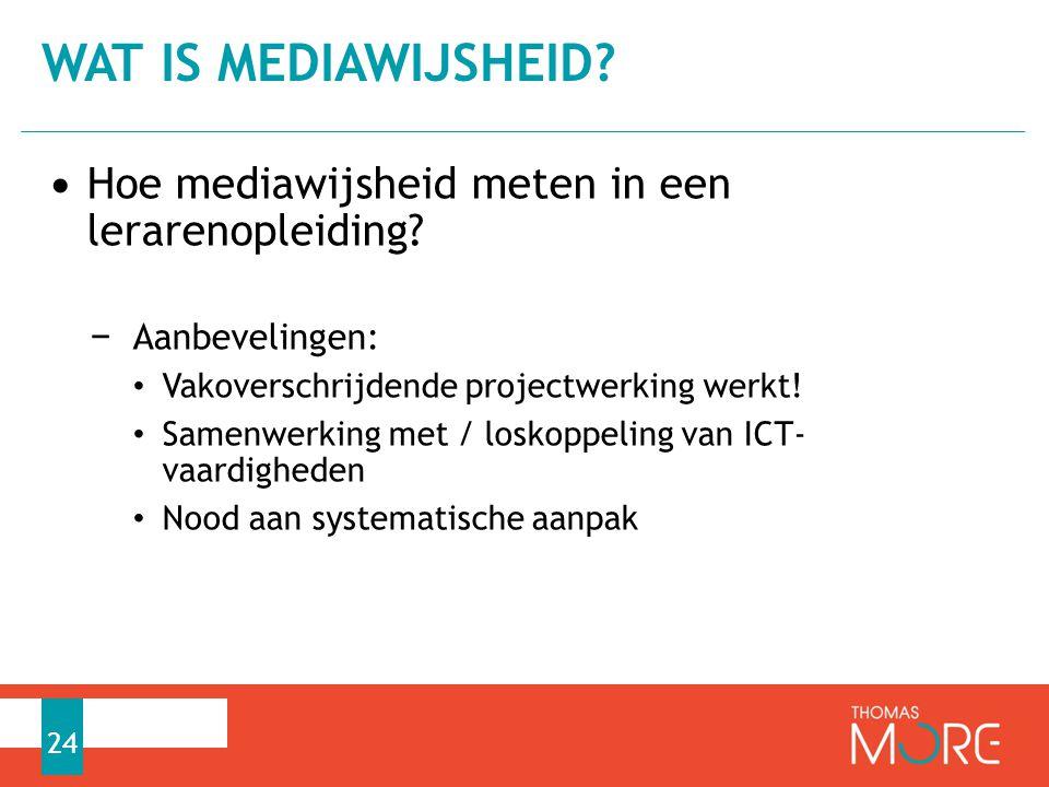 Wat is mediawijsheid Hoe mediawijsheid meten in een lerarenopleiding