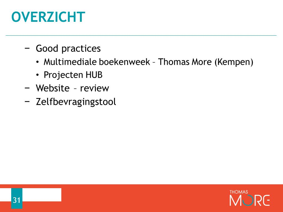 OVERZICHT Good practices Website – review Zelfbevragingstool