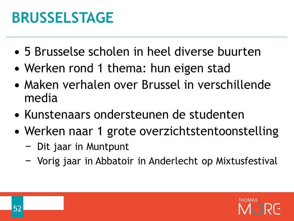 BRUSSELSTAGE 5 Brusselse scholen in heel diverse buurten