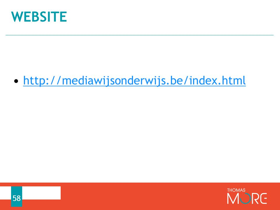 website http://mediawijsonderwijs.be/index.html