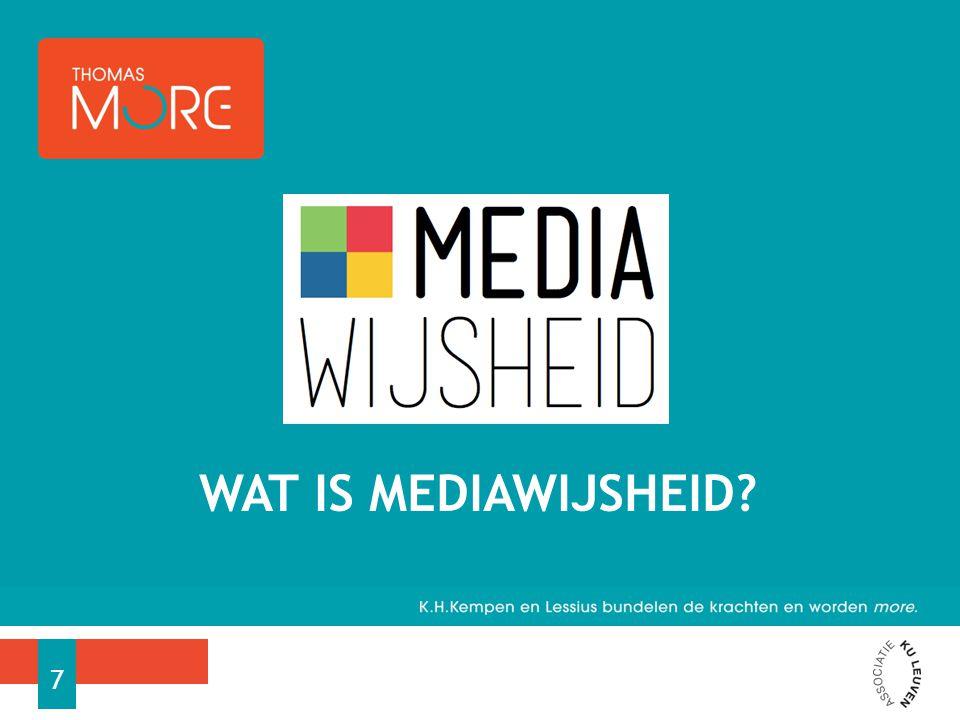 Wat is mediawijsheid