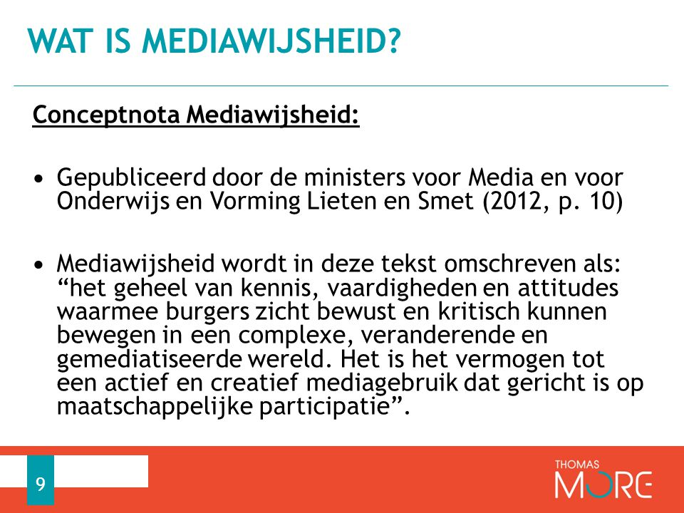 Wat is mediawijsheid Conceptnota Mediawijsheid: