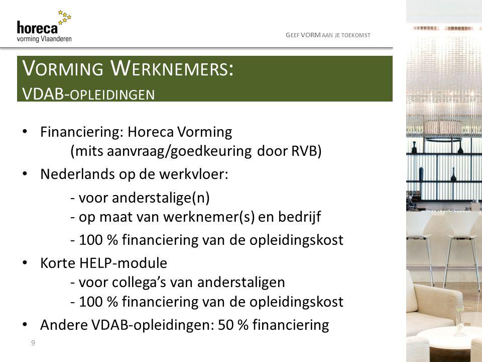 Vorming Werknemers: VDAB-opleidingen