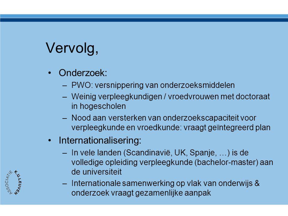 Vervolg, Onderzoek: Internationalisering: