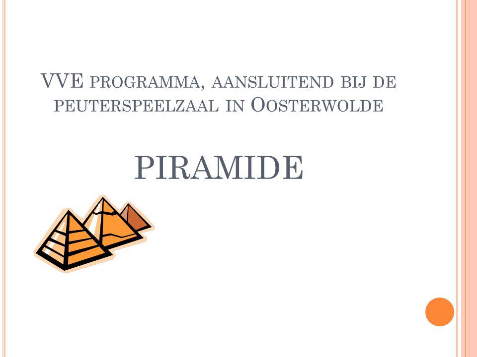 VVE programma, aansluitend bij de peuterspeelzaal in Oosterwolde piramide
