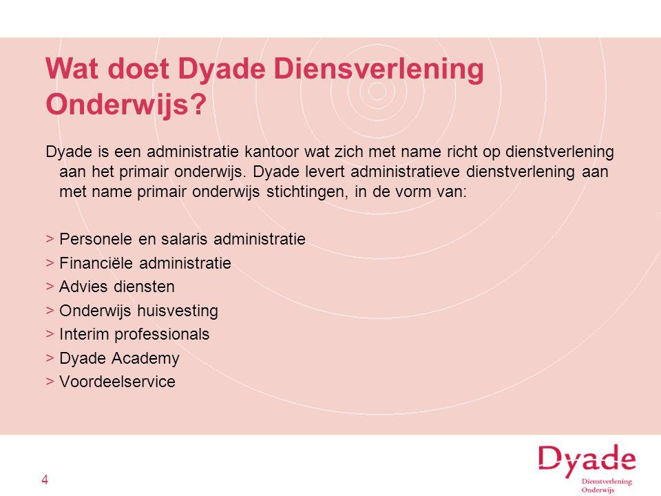 Wat doet Dyade Diensverlening Onderwijs