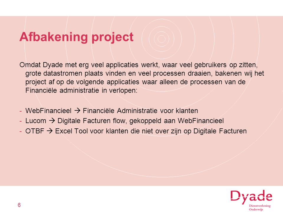Afbakening project