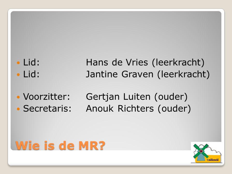 Wie is de MR Lid: Hans de Vries (leerkracht)