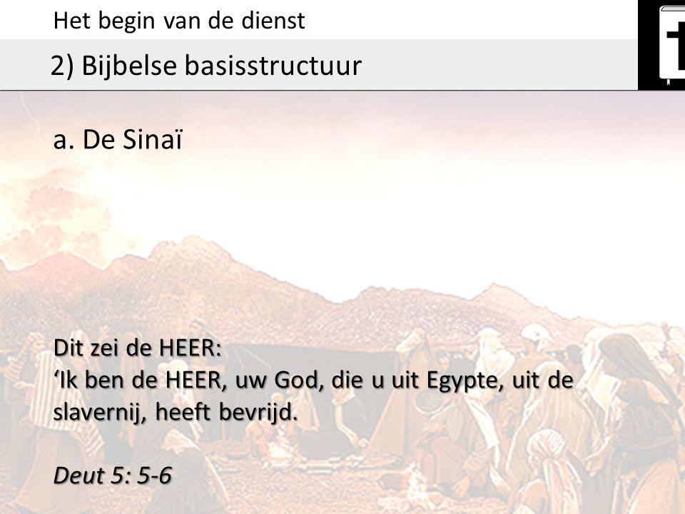 2) Bijbelse basisstructuur