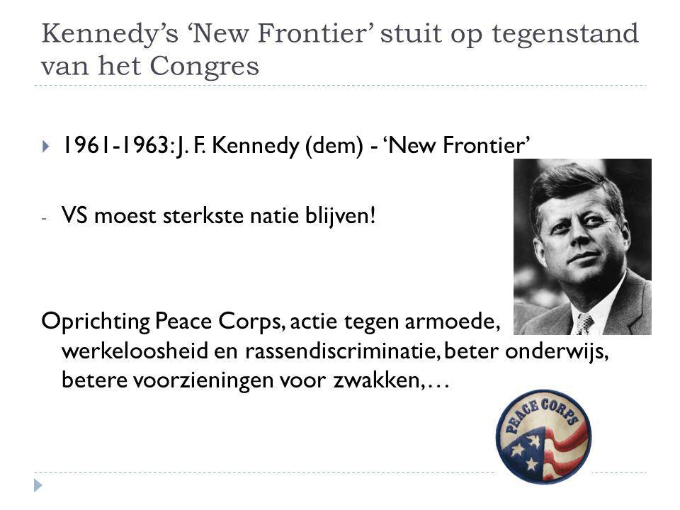 Kennedy's 'New Frontier' stuit op tegenstand van het Congres