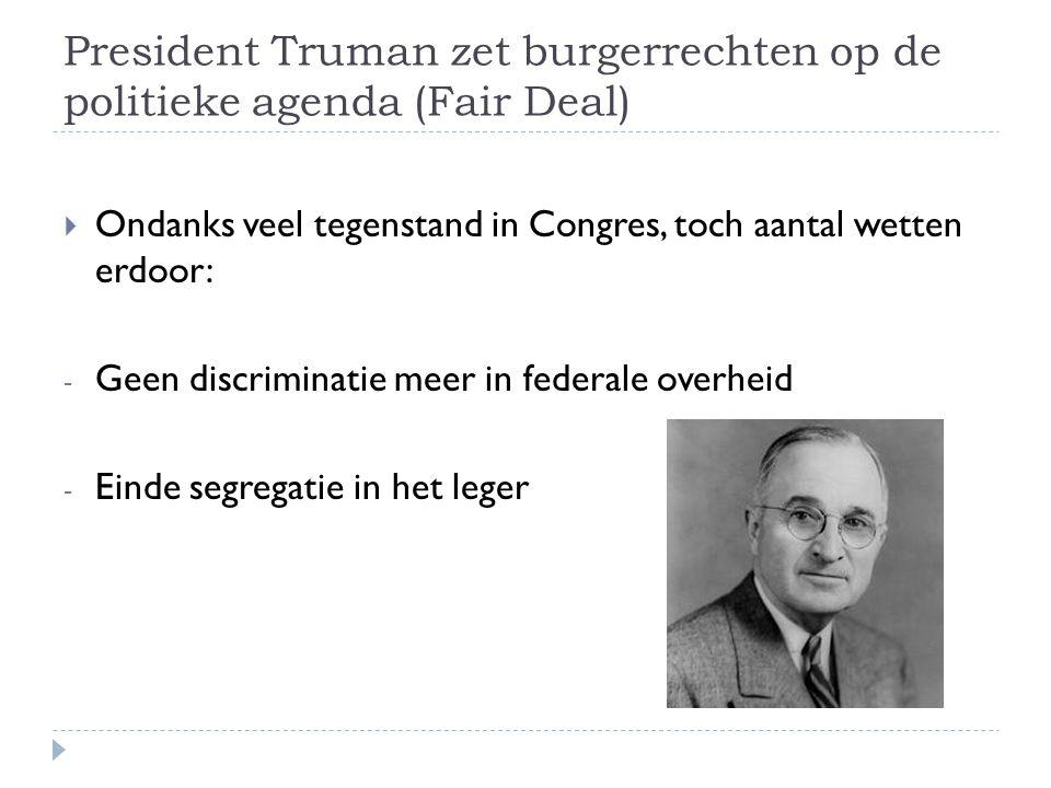 President Truman zet burgerrechten op de politieke agenda (Fair Deal)