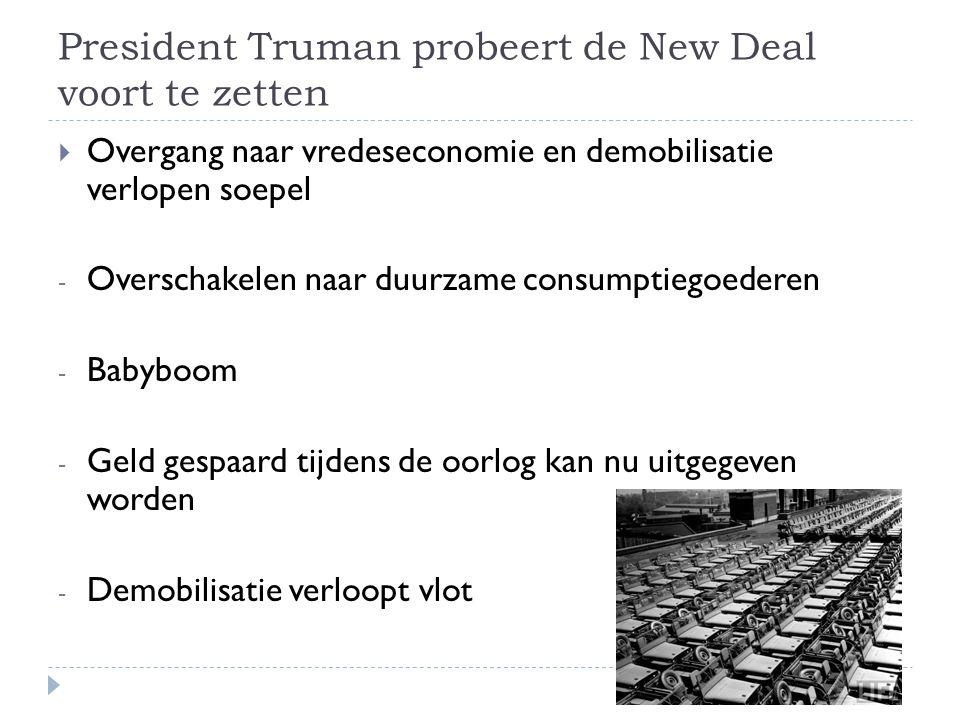 President Truman probeert de New Deal voort te zetten