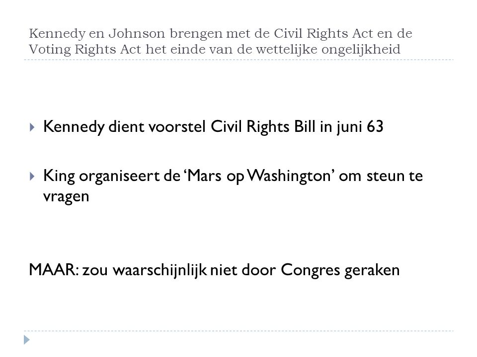 Kennedy dient voorstel Civil Rights Bill in juni 63