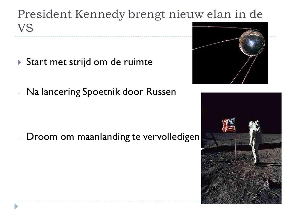 President Kennedy brengt nieuw elan in de VS
