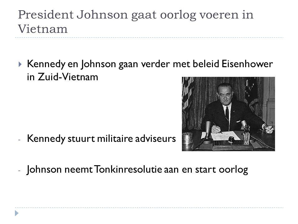 President Johnson gaat oorlog voeren in Vietnam