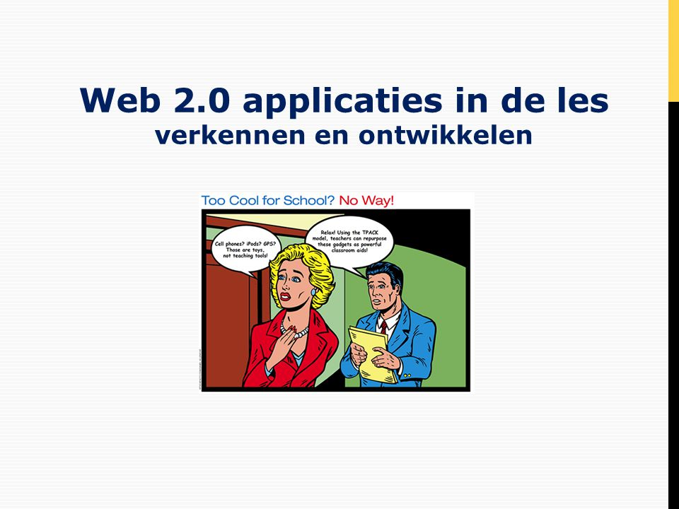 Web 2.0 applicaties in de les verkennen en ontwikkelen