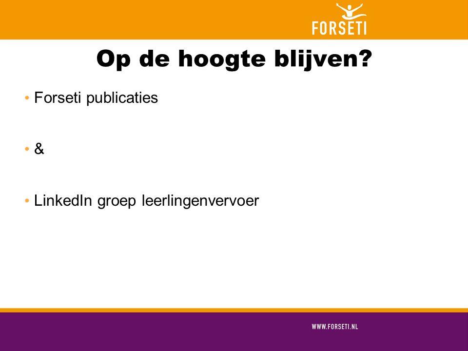 Op de hoogte blijven Forseti publicaties &