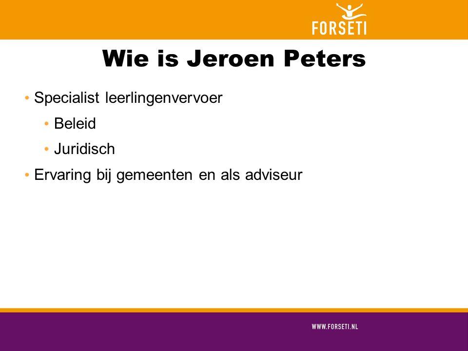 Wie is Jeroen Peters Specialist leerlingenvervoer Beleid Juridisch