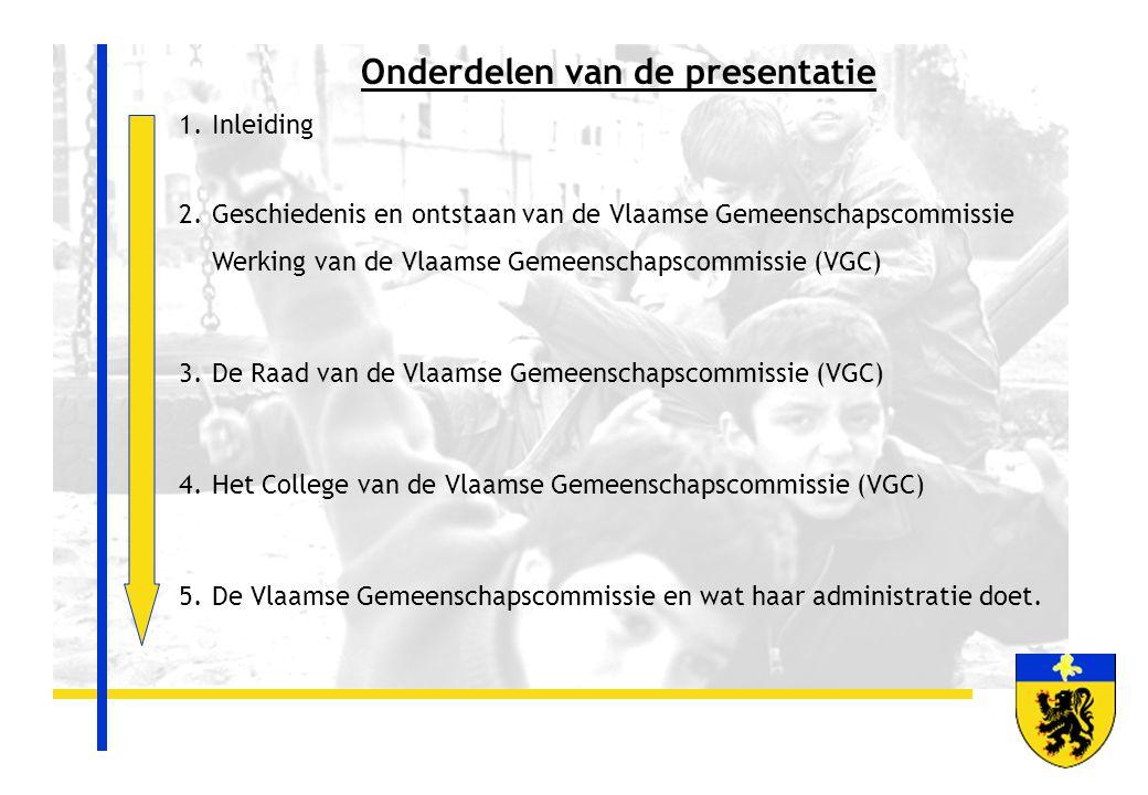 Onderdelen van de presentatie