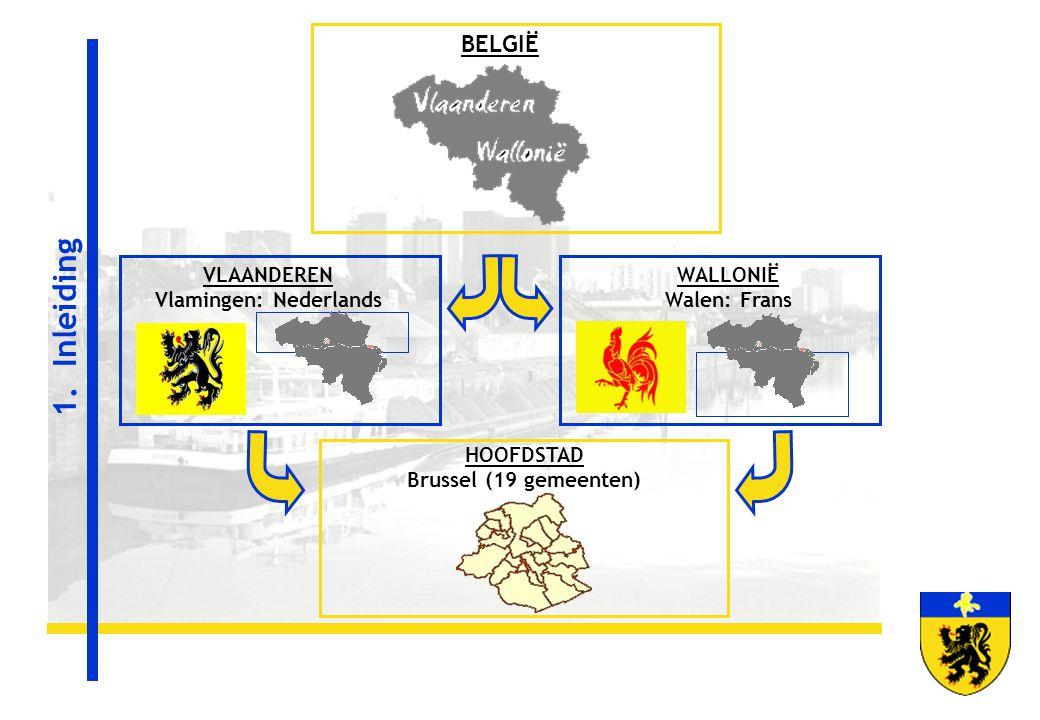 VLAANDEREN Vlamingen: Nederlands HOOFDSTAD Brussel (19 gemeenten)