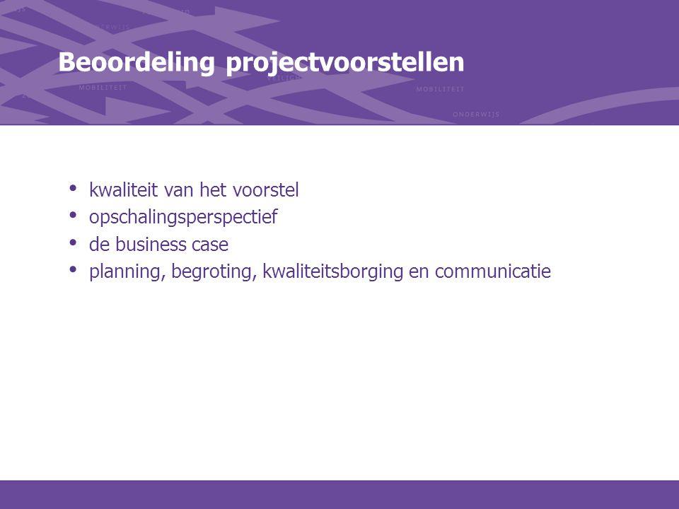 Beoordeling projectvoorstellen