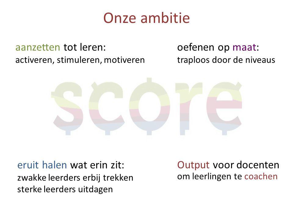 Onze ambitie aanzetten tot leren: activeren, stimuleren, motiveren