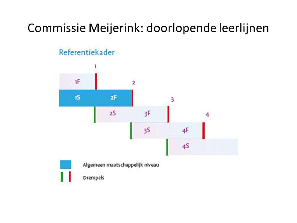 Commissie Meijerink: doorlopende leerlijnen