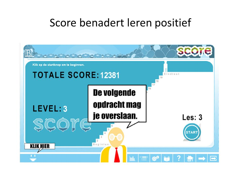 Score benadert leren positief