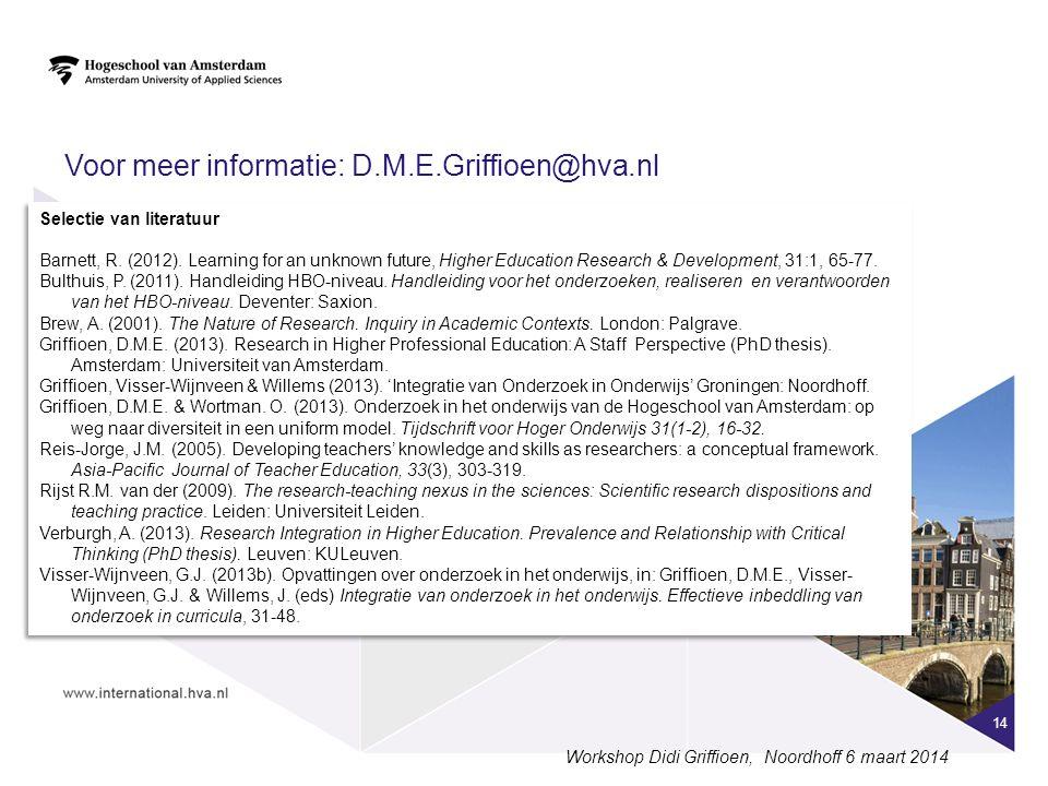 Voor meer informatie: D.M.E.Griffioen@hva.nl