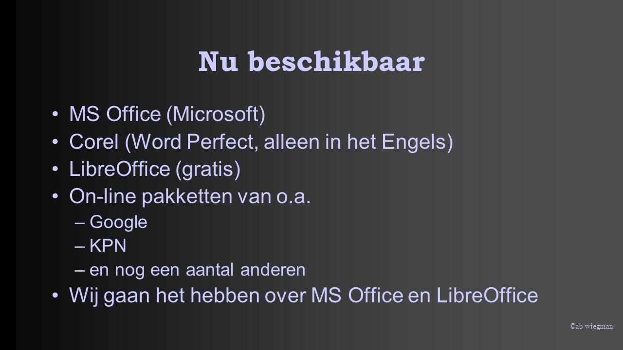 Nu beschikbaar MS Office (Microsoft)