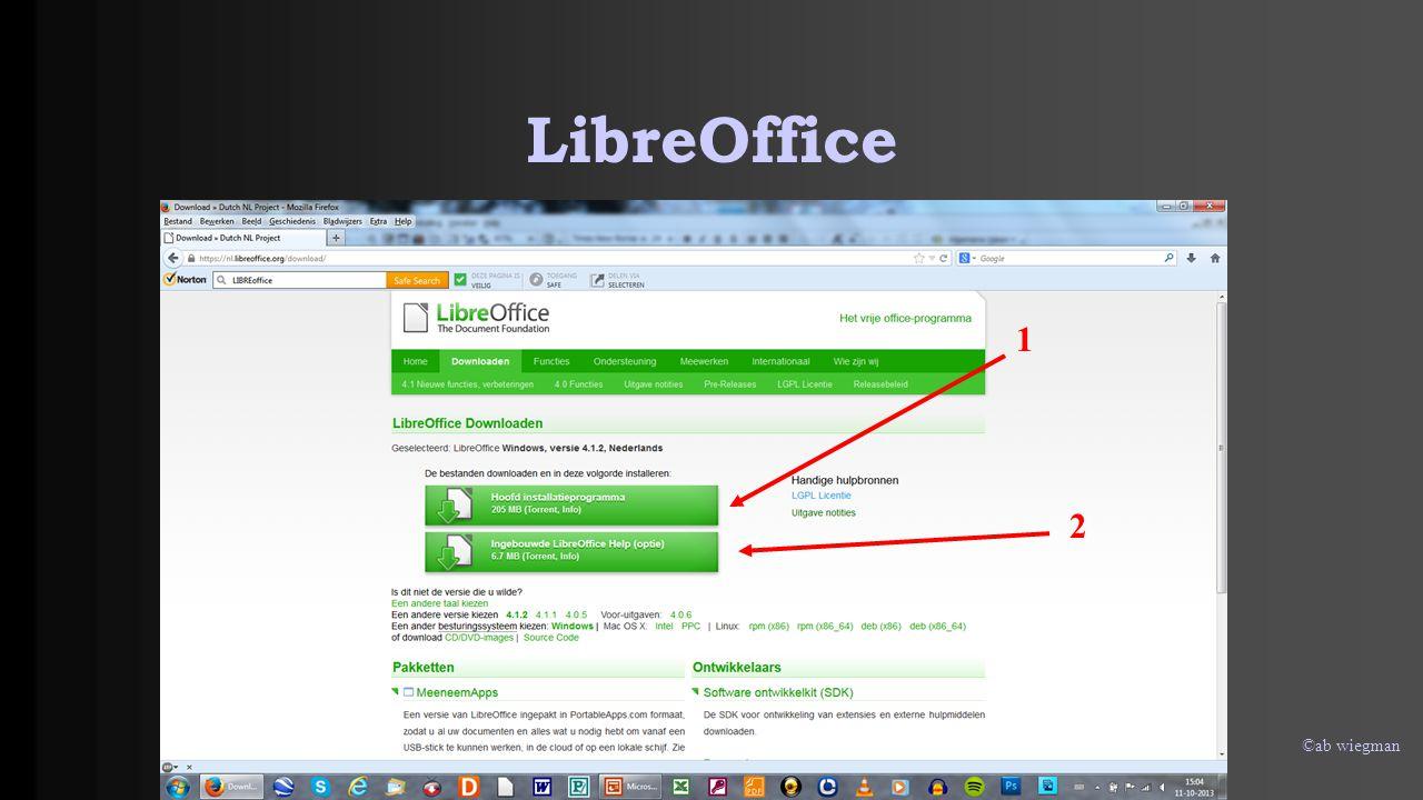 LibreOffice 1 2 ©ab wiegman