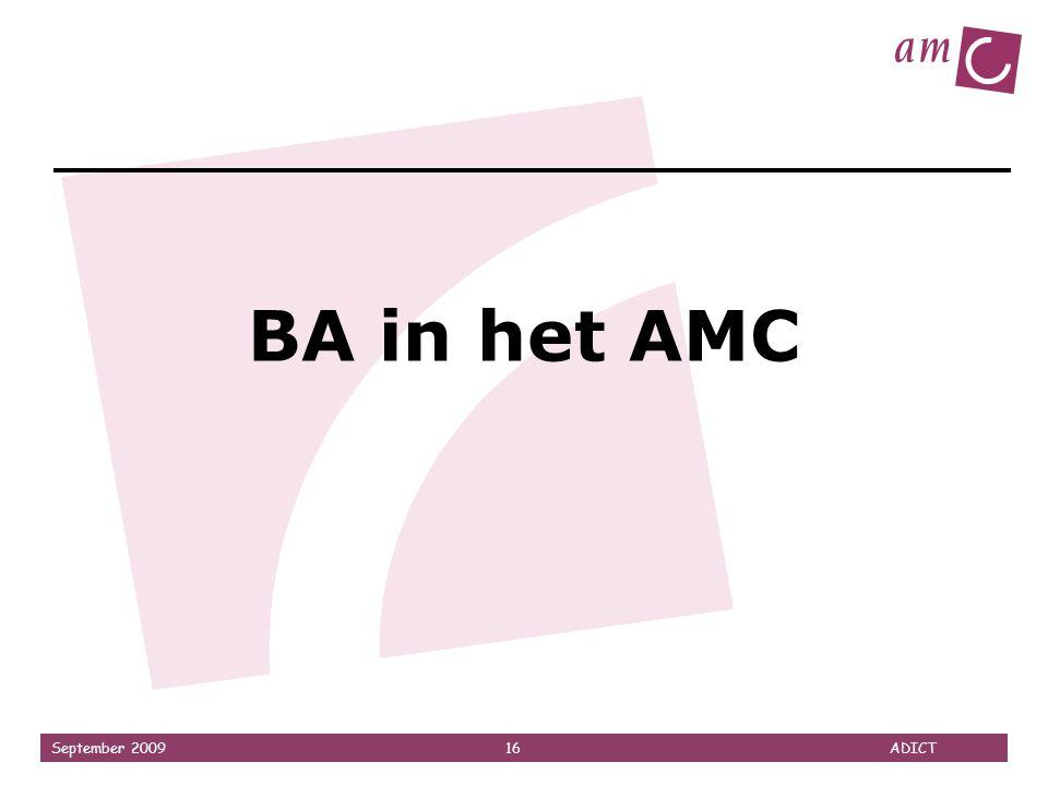 BA in het AMC