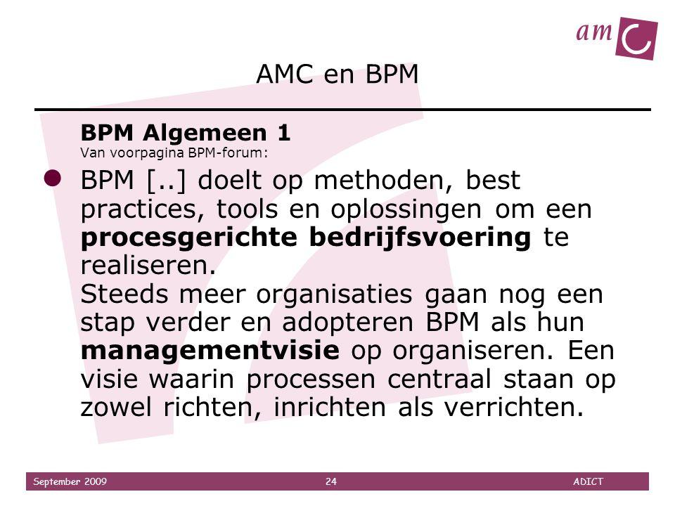 AMC en BPM BPM Algemeen 1 Van voorpagina BPM-forum: