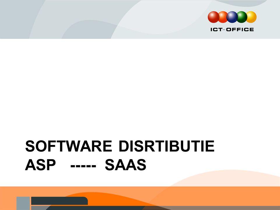Software disrtibutie ASP ----- SAAS