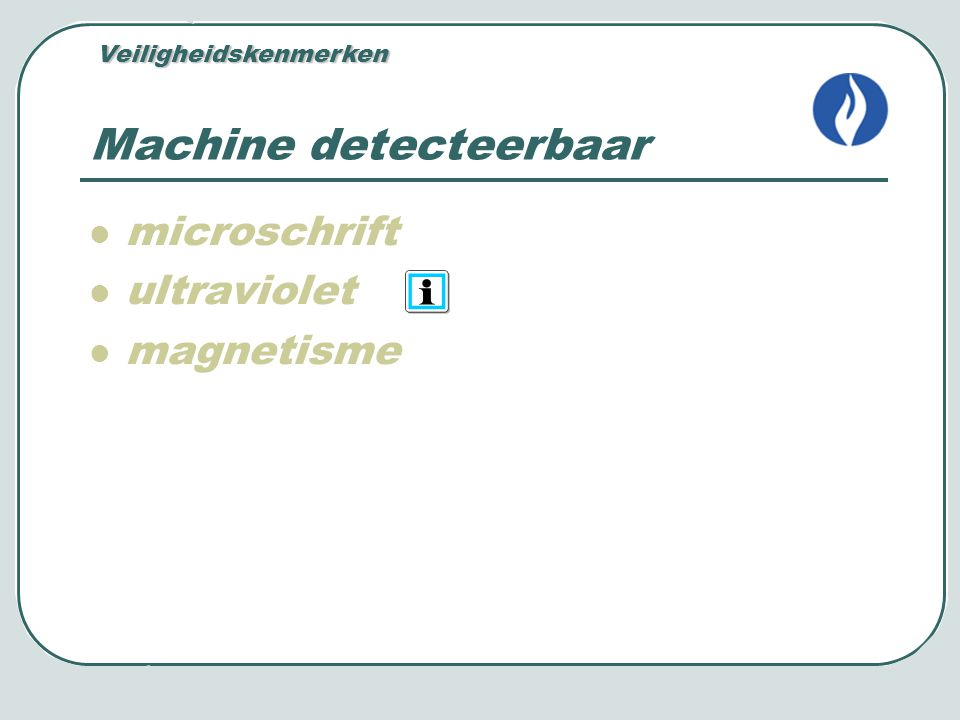 Machine detecteerbaar
