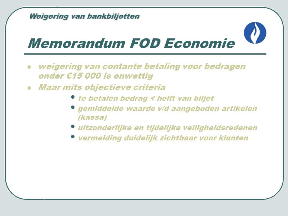 Memorandum FOD Economie
